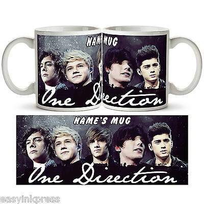 ONE DIRECTION PERSONALISED Ceramic Photo Mug Cup Tea Coffee Any Name 1d Gift New
