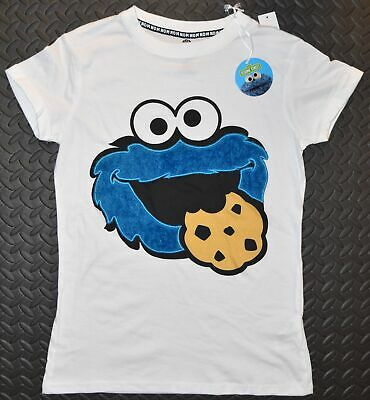 8b6b567195f35 PRIMARK Cookie Monster PJ T-Shirt Fluffy Logo Sesame Street Sizes 6 - 20 NEW