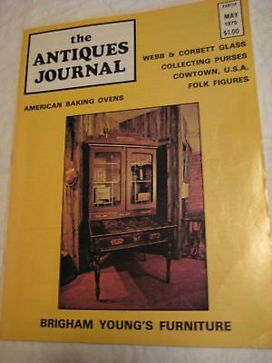 "Original Vintage May 1975 ANTIQUES JOURNAL 8X11"" 66 pgs 258"