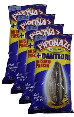 4x100g SPANISH BIG PIPAS SUNFLOWER SEEDS PIPONAZO WITH SALT GREFUSA SPAIN