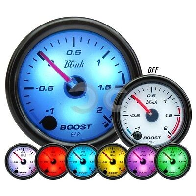 Manometro Turbo Auto Blink Bw Pressione Strumento Bar Turbina Tuning Indicatore