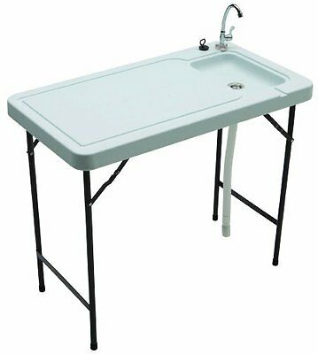 Tricam MT-2 Outdoor Fish and Game Cleaning Table with Quick-Connect Stainless