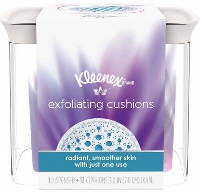 Kleenex Exfoliating Cushions, Refillable Dispenser and Pads