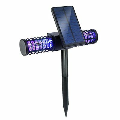 BATTOP Solar LED Outdoor Mosquito Killer Lamp Larger Bug Zapper Light Whole