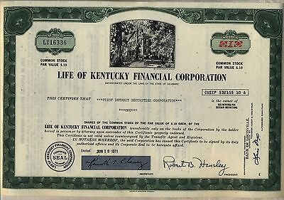 Life of Kentucky Financial Corporation Stock Certificate