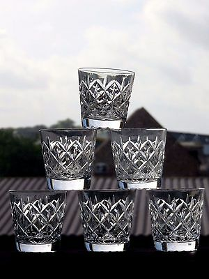 "Stuart Crystal""stu83"" Pattern Tumblers Set Of 6"