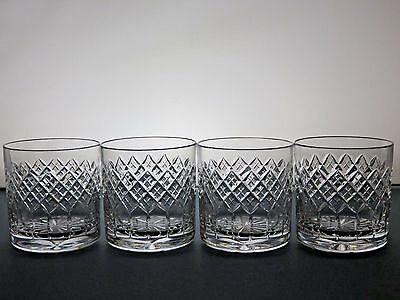 Beautiful Design Cut Glass Crystal Tumblers Set Of 4