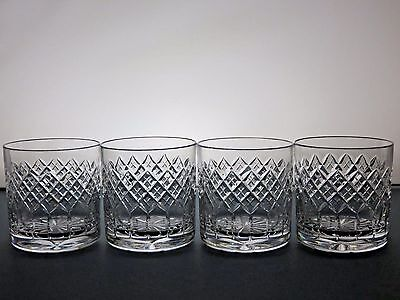 "Georgian Crystal ""elvaston"" Pattern Tumblers Set Of 4"