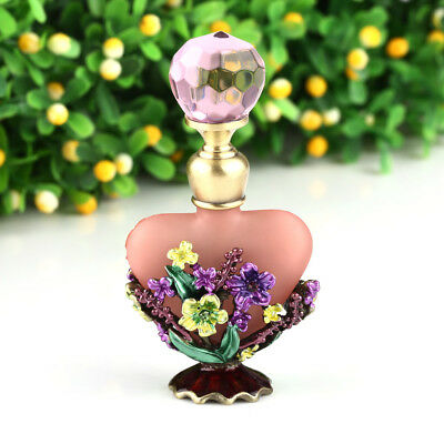 Vintage Flowers Perfume Bottle Empty Refillable Antique Bottles Crafts Gift