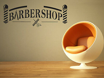 Wall Room Decor Art Vinyl Sticker Mural Decal Barber Shop Logo Sign Tools SA040