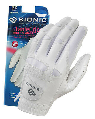 2 x BIONIC Ladies Stable Grip Glove - White Leather  - NEW Natural Fit Style