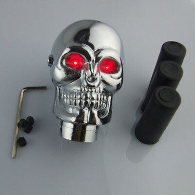 Universal Car Truck Red LED Skull Manual Gear Stick Shift Knob Lever Shifter