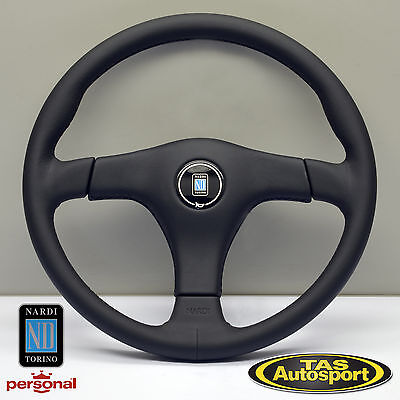 Nardi Steering Wheel GARA 3/3 Leather Black Spokes 365mm 6021.36.2171