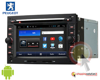autoradio gps peugeot 307 navigatore lcd hd android wifi usb canbus rds ita dvd eur 389 00. Black Bedroom Furniture Sets. Home Design Ideas