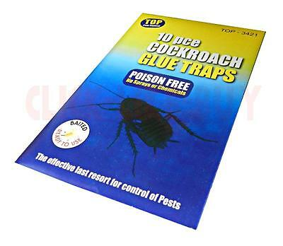 Baited Cockroach Crawling Insect Woodlice Earwig Spider Ant Glue Traps Killer