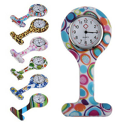 Fashion Silicone Nurses Brooch Tunic Fob Pocket Watch Stainless Dial Popular