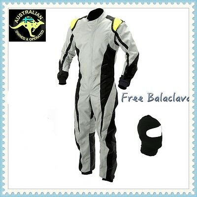 White Go kart race suit (free balaclava)  - (XS,S and medium size only)