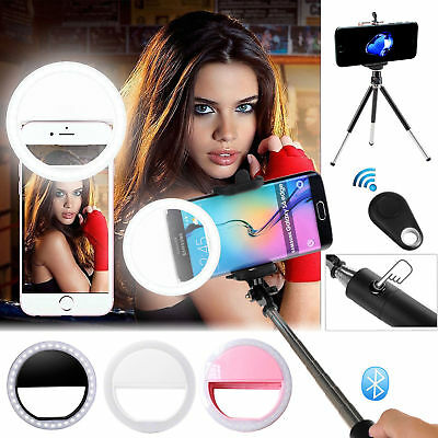 EEEKit 36 LED Selfie Fill Light Up Phone Ring Flash+Selfie Stick+Tripod+Remote