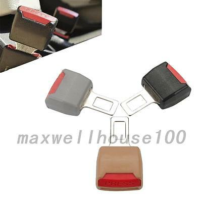 New 2Pcs Universal Car Seat Seatbelt Safety Belt Clip Extender Extension Buckle