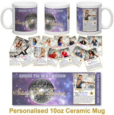 #STRICTLY COME DANCING Personalised 10oz Ceramic Mug SHHH! I'M WATCHING STRICTLY