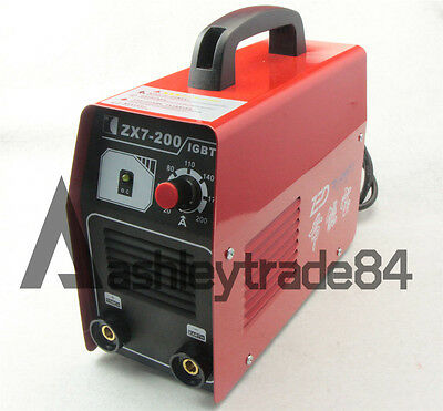 ZX7-200 220V 200AMP DC Inverter Welding Machine MMA / ARC Welder IGBT