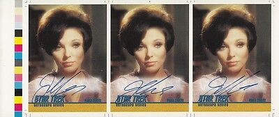 Joan Collins - Star Trek - Rare Printers Uncut Personally Signed Trading Card
