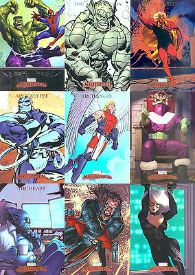 Marvel - Masterpieces Series 1 - 2007 - Complete Trading Card SET (90) - NM