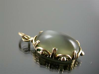 Rare Antique Victorian Gold & Yellow Orthoclase  Moonstone Pendant C.1880