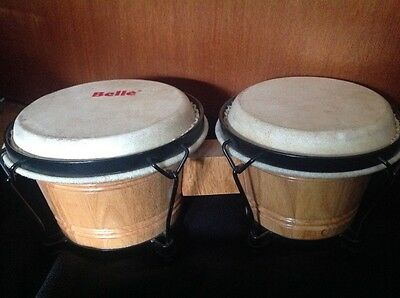 Bongos ( set of two ) , tuned & ready to play, good used condition,strong skin..