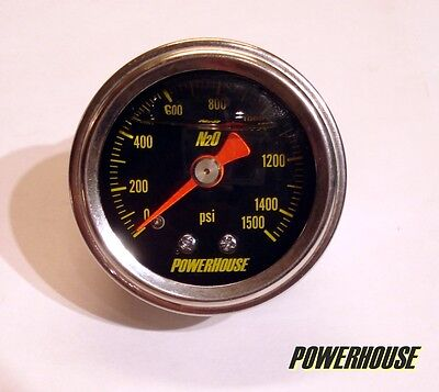 Nitrous Oxide Pressure Gauge to fit Wizards of Nos WoN nitrous systems