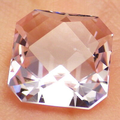 MORGANITE /BERYL/-NIGERIA 3.66Ct CLARITY VVS2-BEAUTIFUL LIGHT PINK COLOR-RARE!
