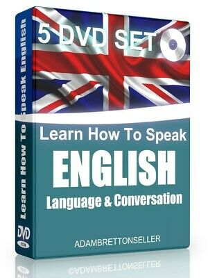 Learn How to Speak ENGLISH Language & Conversations DVD Set Quick Easy Fast