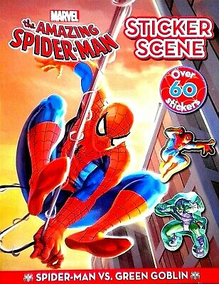 Spiderman Green Goblin children's STICKER SCENE book new Marvel