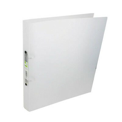 Q-Connect A4 Polypropylene Ring Binder Stylish Frosted White / 2 Rings / Kf02487