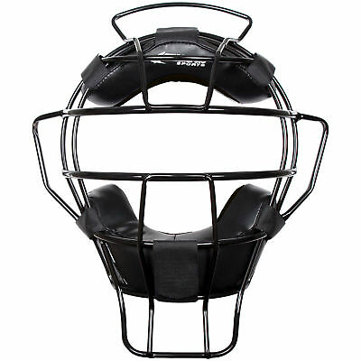 Champro Lightweight Dri-Gear Adult Baseball/Softball Umpire Mask - Black