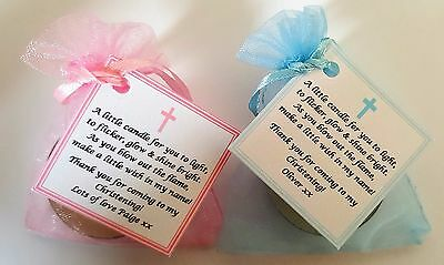 CHRISTENING / BAPTISM FAVOURS vanilla candle tealights - personalised option