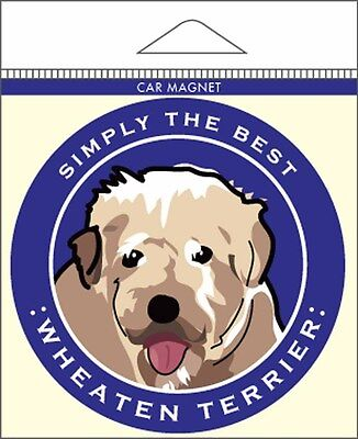 Soft Coated Wheaten Terrier Car Magnet 4×4″