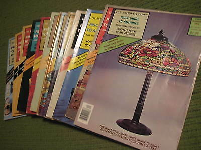 Vintage 1973 - 1976 Original Lot of 12 PRICE GUIDE TO ANTIQUES Magazines 258