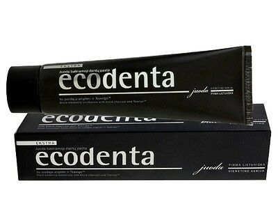 ECODENTA BLACK TOOTHPASTE WITH BLACK CHARCOAL / NATURAL FLUORIDE FREE/ 100g