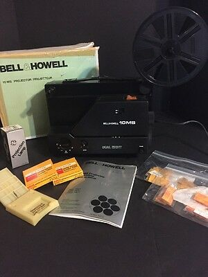 Dual 8 Movie Projector For Regular 8 & Super 8 Film Bell & Howell 10 Ms