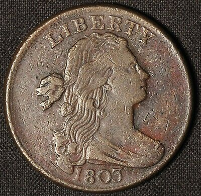 1803 Draped Bust  Small Date  Large Fraction S-260 Large Cent