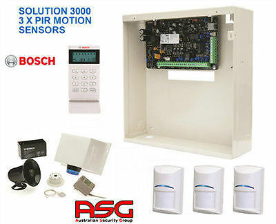 NEW BOSCH HOME SECURITY ALARM SYSTEM SOLUTION 3000 WITH 3 x PIR MOTION SENSORS