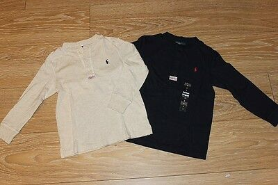Brand New Authentic Ralph Lauren Boys Long Sleeve Shirts Size 3T.4T.5.6.7