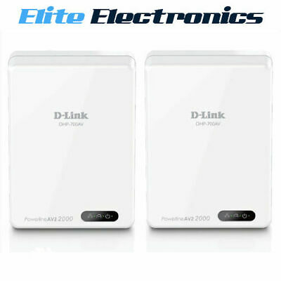 D-Link Dhp-701Av Powerline Av2 2000 Gigabit Network Adapter Kit Dlink