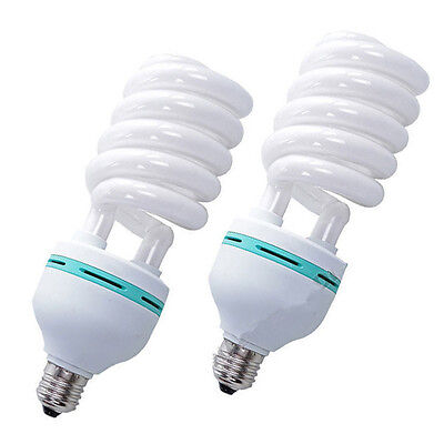 2 x 105w 5500K Continuous Lighting Bulb Fluorescent Day-light Photo Studio Lamp