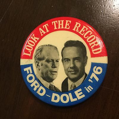 Ford Dole 1976 presidential  Election Pin