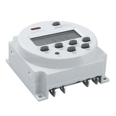 Digital Programmable Control Power Timer AC220V-240V 16A Relay Switch Counter