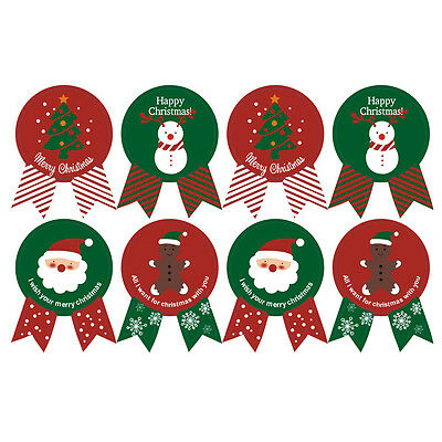 24 Seals Merry Christmas Badge Sticker Envelope Seal Gift Food Wrapping Stickers