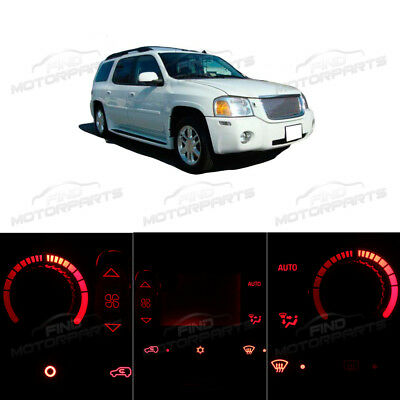Red Heater AC Air Climate Control Bulbs LED Lights for Envoy XL XUV w/LCD 02-05