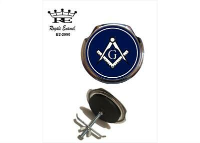 Royale Car Grill Badge & fittings - Free Masons Masonic Square & Compass B2.2990